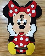 Резиновый 3D чехол для Asus Zenfone 5 Minnie Mouse