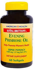 Масло примулы вечерней, 1300 мг, 60 мягких капсул American Health