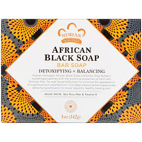Африканське чорне мило тверде, 142 г Nubian Heritage