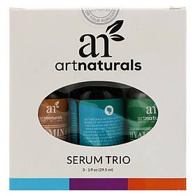Антивозрастной серум, набор из 3 элементов, Serum Trio Set, Anti-Aging (29.5мл каждый), Artnaturals