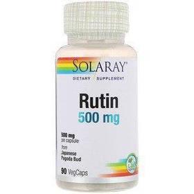 Рутин для сосудов, 500 мг, 90 вег капсул, Solaray
