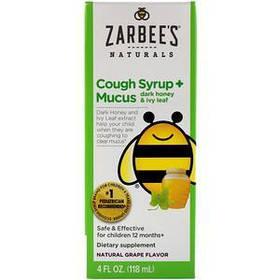 Сироп від кашлю плющ, ароматизатор натуральний виноградний (118 мл) Zarbee's