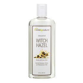 Тоник для кожи лица с гамамелисом, без запаха, без спирта, 355 мл, Mild By Nature