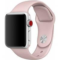 Силиконовый бежевый ремешок браслет Sport Band для часов Apple Watch 42/44