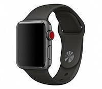 Силиконовый черный ремешок браслет Sport Band для часов Apple Watch 42/44