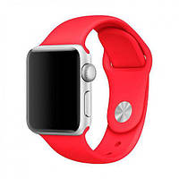 Силиконовый красный ремешок браслет Sport Band для часов Apple Watch 42/44