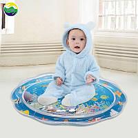 Надувной игровой силиконовый коврик развивающий детский круглый коврик водный напольный для детей