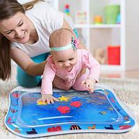 """Надувной """"Подводный мир"""" игровой развивающий детский коврик квадратный коврик водный напольный для малышей"""