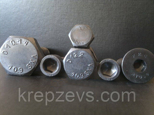 Болт М22 класс прочности 10.9, ГОСТ 7798-70, 7805-70, DIN 931, DIN 933    Фотографии принадлежат предприятию ЗЕВС®