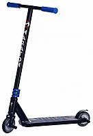 Трюковый спортивный самокат Maraton DEXTER двухколесный с усиленной рамой и пегами для подростков синий