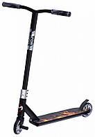 Трюковый спортивный самокат Maraton Forsazh двухколесный с усиленной рамой и пегами для подростков черный