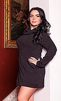 Теплое стильное платье ― туника
