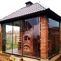 Мягкое стекло для окон, беседок, теплиц, террас Мягкое окно Soft Glass 2.8 х 1.4 м (толщина 1мм) Прозрачное