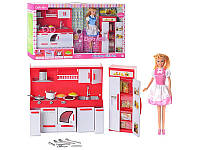 """Кукла """"Defa Lusy"""" с мебелью для кухни 8085"""