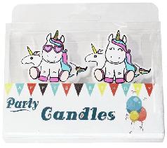 Свічки для торта Єдинороги на шпажках 4 шт.