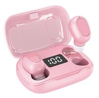 Беспроводные наушники с микрофоном bluetooth наушники в кейсе TWS L21 Pro Розовый
