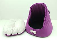 Домик для кошек и собак Мышка фиолетова, фото 1