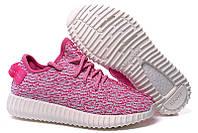Женские кроссовки Adidas Yeezy Boost 350 розовые