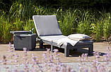 Шезлонг Allibert by Keter Daytona с мягкими подушками, фото 3