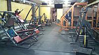 Резиновое напольное покрытие для спортзала, тренажерного зала, кроссфита