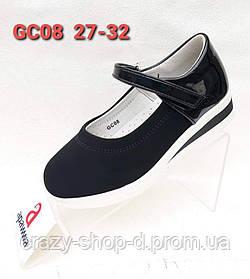 Черные замшевые туфли для девочки 27.28.29