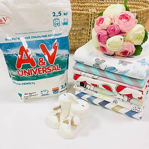 Бесфосфатный стиральный порошок A&V Universal (морская свежесть)  2,5 кг.