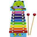 Дитяча музична дерев'яна іграшка Ксилофон MD0712 (Слоненя Блакитне), фото 6