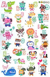Англійська абетка, вінілові наклейки для дітей, артикул 10926