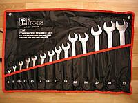 Набор ключей рожково-накидных хромированные 14 шт.