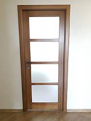 Дверь межкомнатная дерево ольха