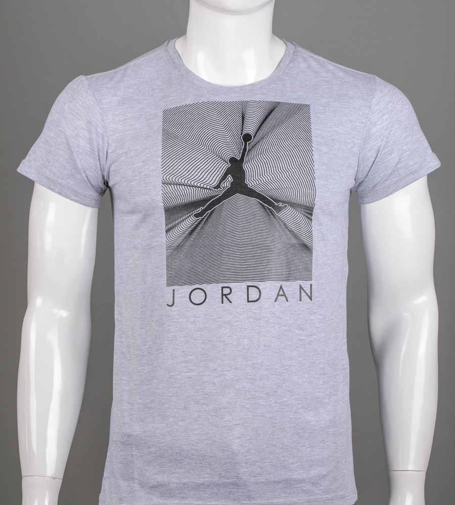 Футболка чоловіча Jordan (2107м), Сірий меланж