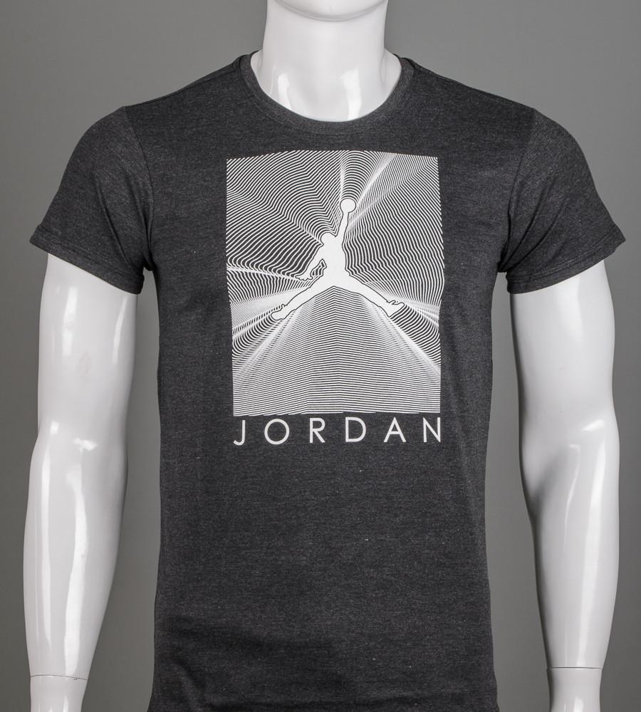 Футболка чоловіча Jordan (2107м), Т. Сірий меланж