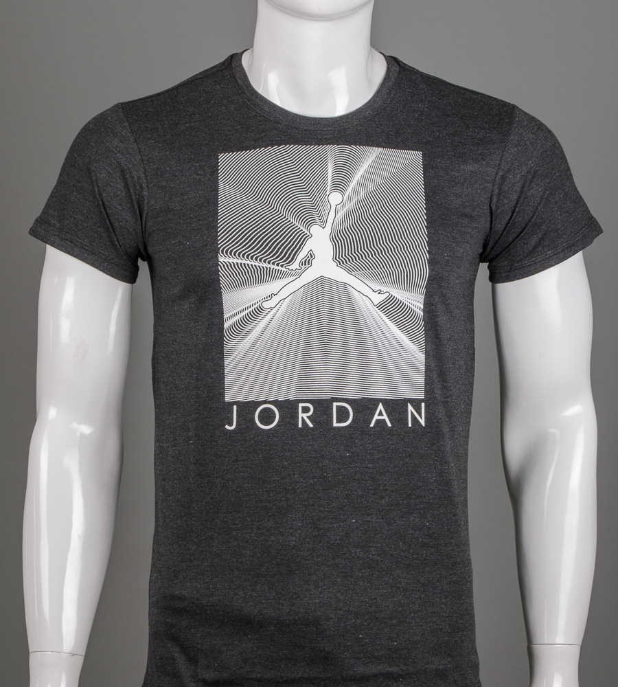 Футболка мужская Jordan (2107м), Т.Серый меланж