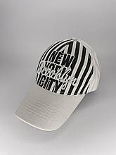 Мужская черно-белая кепка-бейсболка Brooklyn