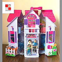 """Детский раскладной домик для кукол """"Моя люба хатинка"""" F611, домик с мебелью и куклой,кукольный домик"""