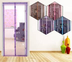 Анти москітна сітка штора на магнітах magik mash кольорова ФІОЛЕТОВА