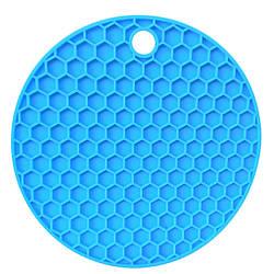 Подставка под горячее Benson BN-990 силиконовая голубая   подставки под горячее Бенсон   подложка для горячего