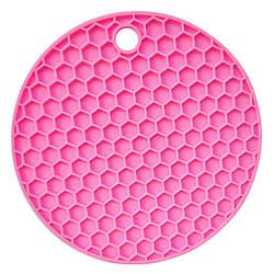 Підставка під гаряче Benson BN-990 силіконова рожева | підставки під гаряче Бенсон | підкладка для гарячого