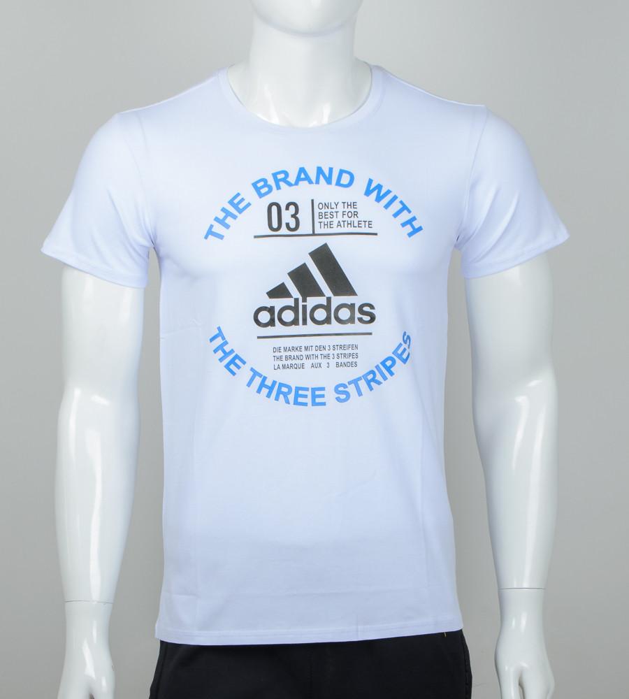 -Р- Футболка мужская Adidas Белый (2056м), M
