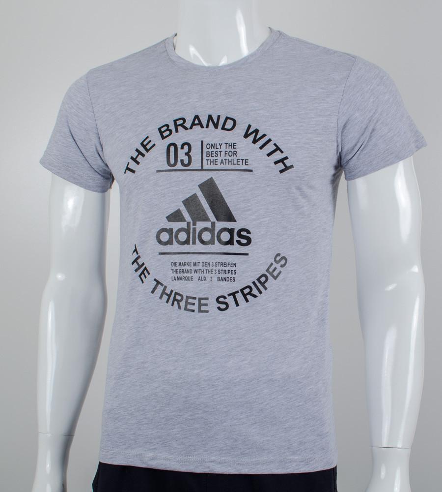 -Р- Футболка мужская Adidas Серый (2056м), L