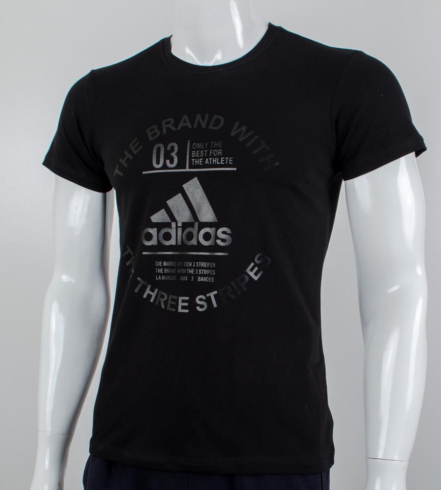 -Р - Футболка чоловіча Adidas Чорний (2056м), XXL