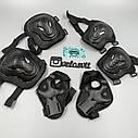 Комплект защиты для взрослых, налокотники, наколенники, перчатки+ШЛЕМ, фото 3
