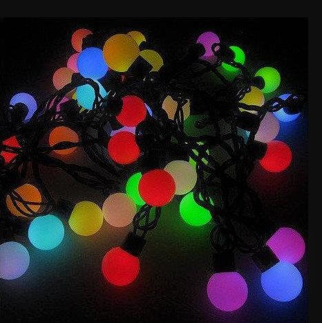 Гірлянда матовий кулька 40LED 5м (флеш) 18мм, Новорічна бахрама, Світлодіодна гірлянда, Вулична гірлянда