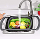Складаний друшляк Benson BN-091 | силіконовий друшлаг для миття овочів і фруктів Бенсон | друшлак Бэнсон, фото 3