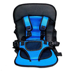 Безкаркасне дитяче автокрісло   крісло для дитини в машину   дитяче автомобільне крісло синє