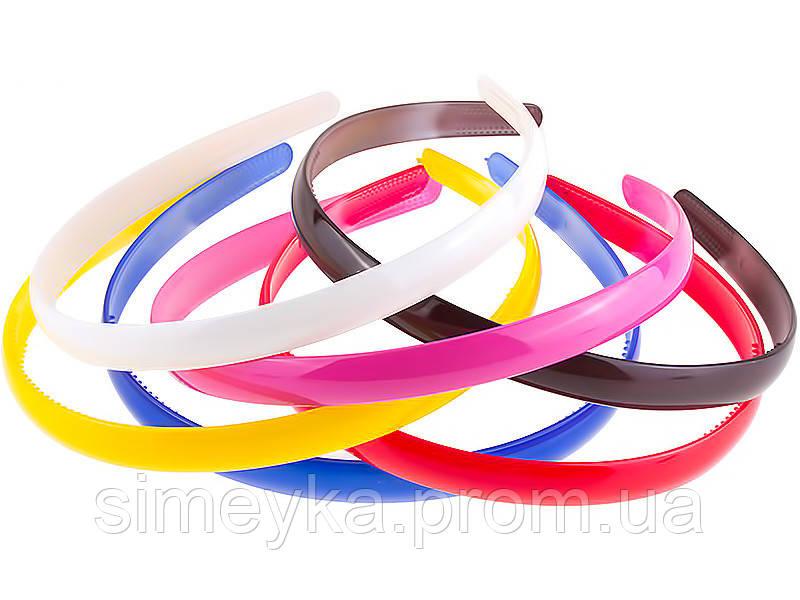 Обруч пластиковый цветной, ширина 12 мм, уп. 6 шт.