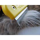 ОПТ Фурминатор леза 10 см для кішок і собак, щітка для грумінгу та зменшення линьки у домашніх тварин, фото 4