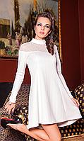 Нарядное белоснежное платье