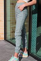 Брюки джоггеры детские №3225 для девочки (8-14лет) стрейч-коттон мята с карманами
