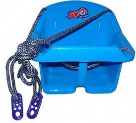 Дитяча гойдалка Малюк Технок 3015 Блакитна | гойдалка для дитини | пластикова підвісна гойдалка